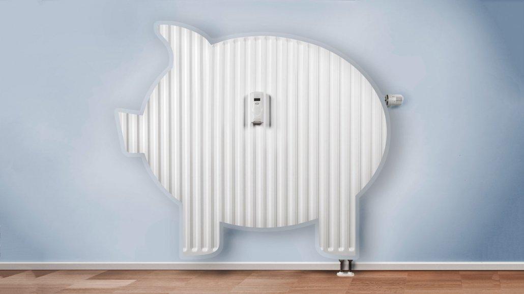 Energiesparen Heizung Sparschwein