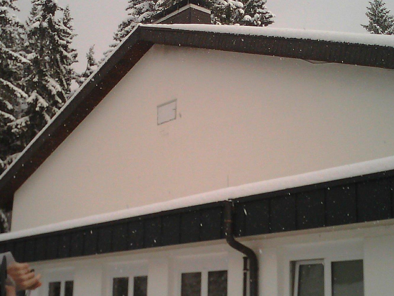 Bauthermografie Realbild Hausfassade