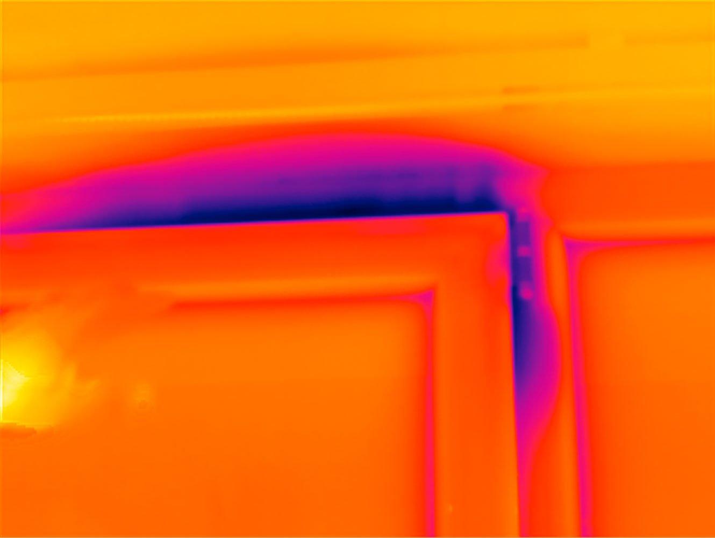 Luftdichtheitsmessung Blower Door Thermografiebild