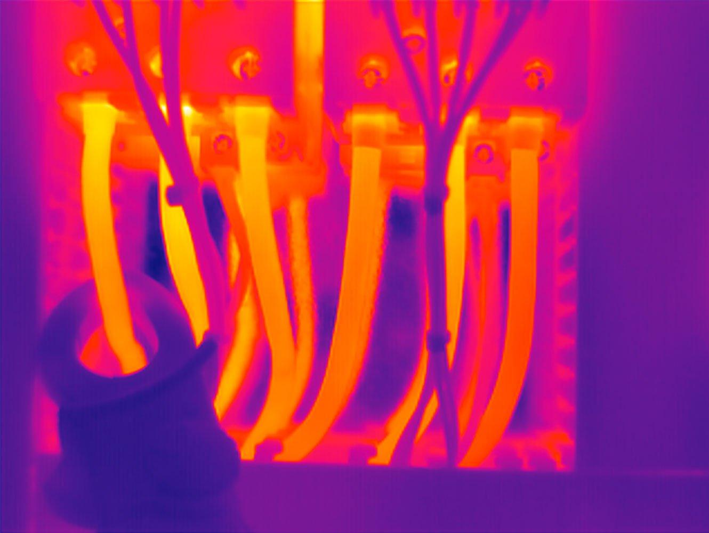 Elektrothermografie Thermografiebild elektrischen Anlage