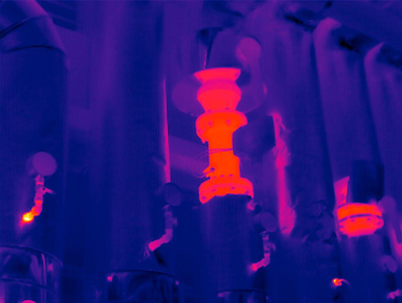 Industriethermografie Thermogfrafiebild Industrie-Anlage